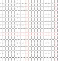 Delica Bead Graph Paper (Enlarged 200% of Actual Size) at