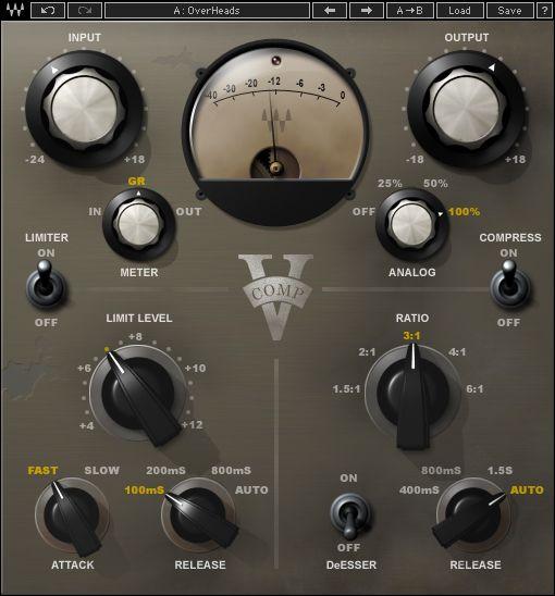 V Comp Vintage Compressor Plugin Waves Waves Audio Music Software Music Mixing