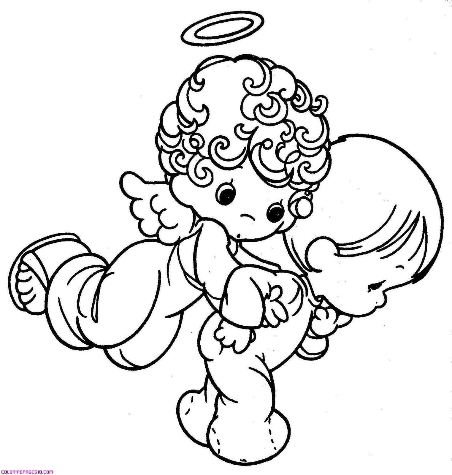 Precious Guardian Angel Coloring Pages Precious Moments Coloring