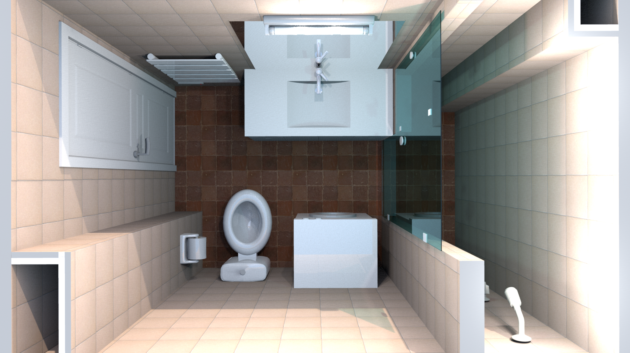 Ordinaire Small Bathroom Solution With Big Shower Spot For Two
