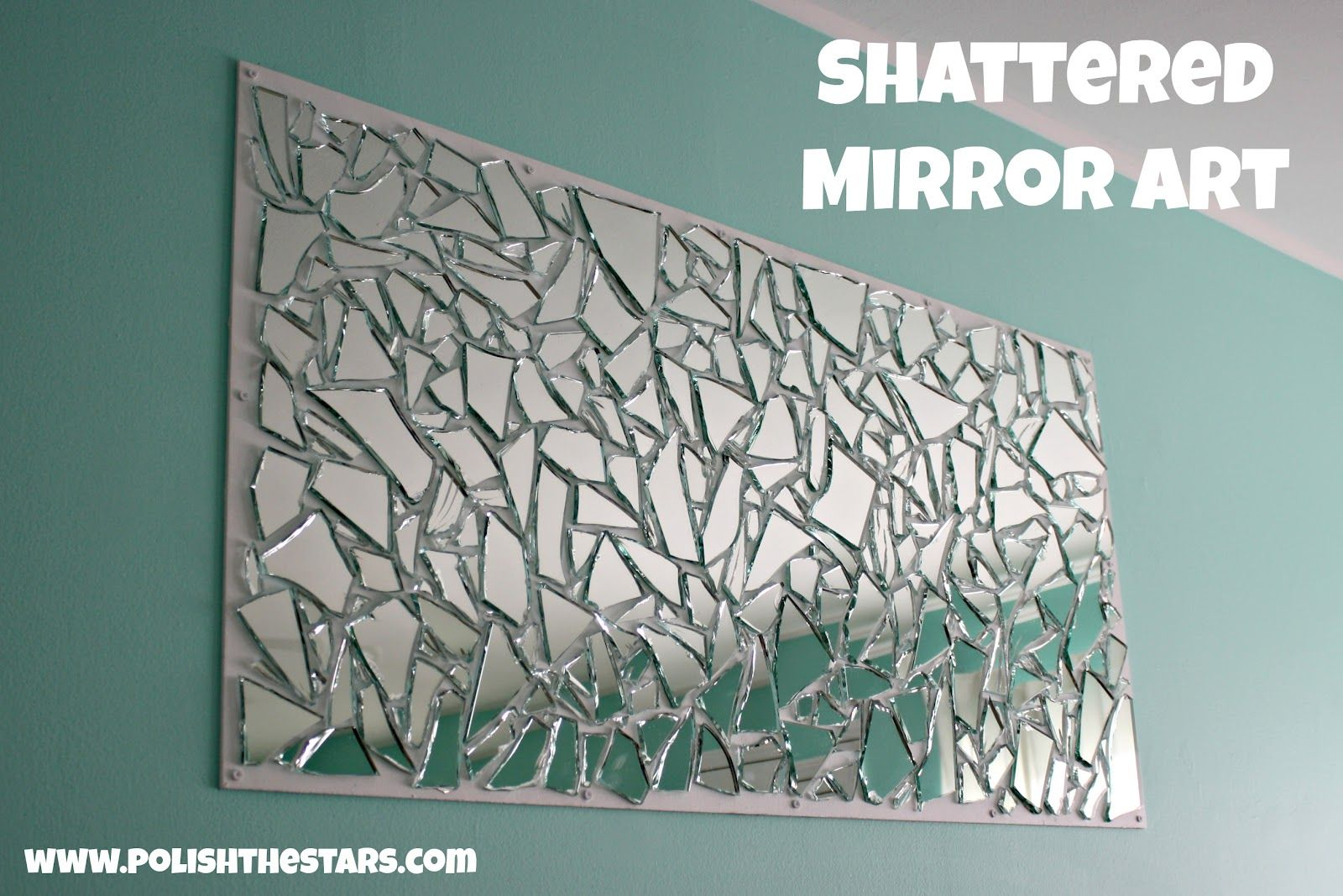 broken mirror pieced back together craftiness pinterest