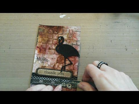 Made by Sannie: Be Square Thank you card with video tutorial