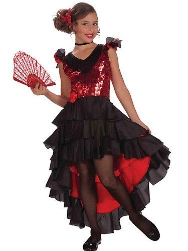 Designer Spanish Dancer Costume for Girls COSTUME IDEAS - halloween costumes for girls ideas
