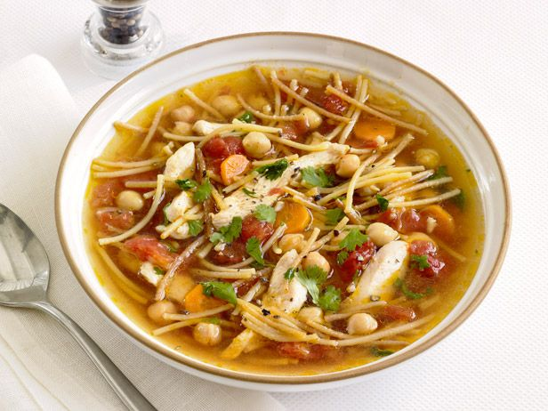 Chickpea Chicken Noodle Soup Recipe From Fn Magazine Souper