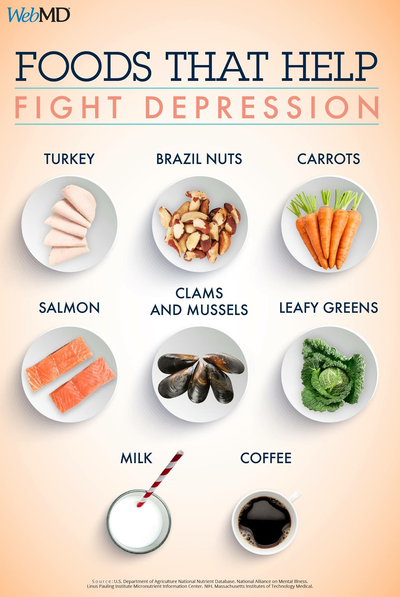foods that help fight depression | <infographics> | pinterest
