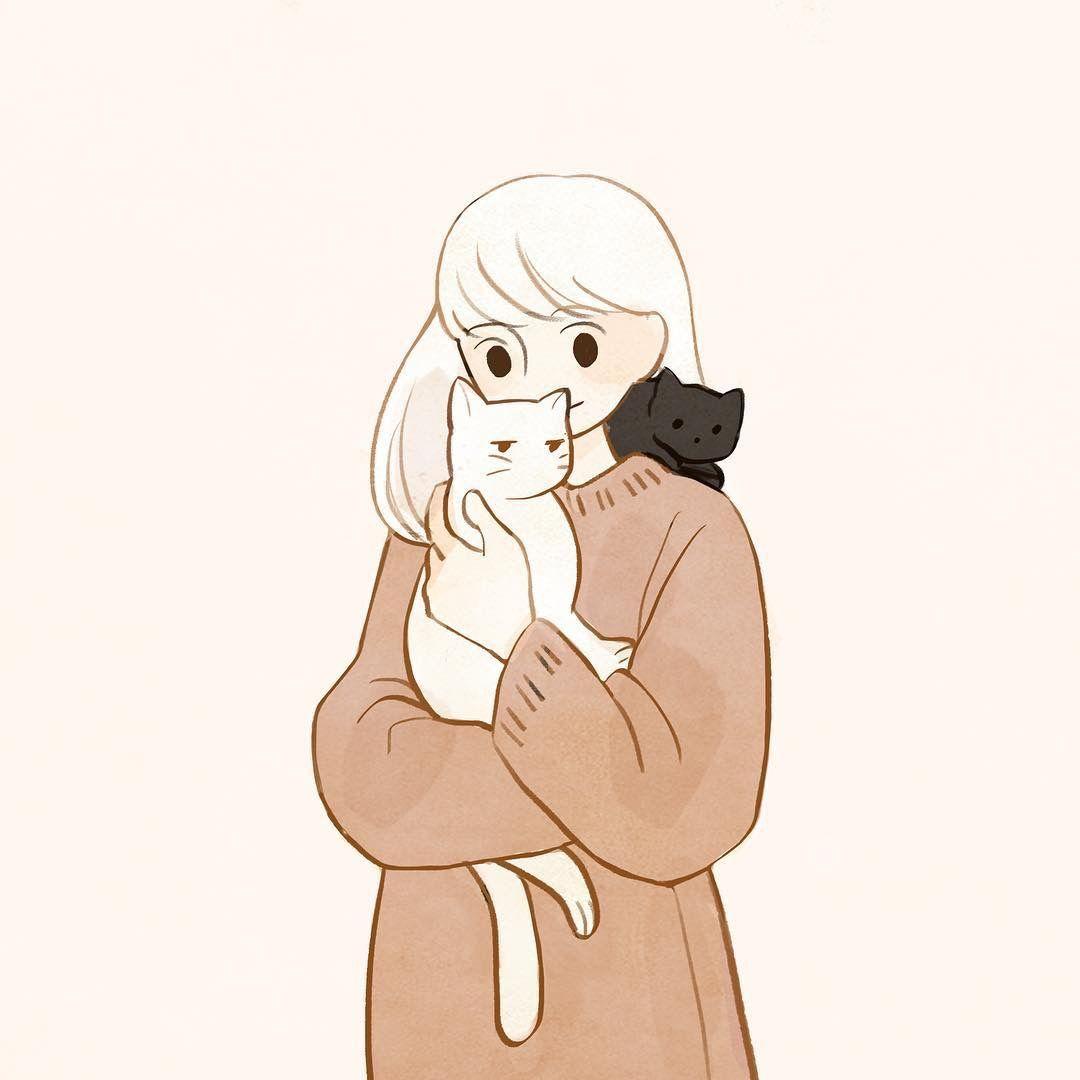 shato/샤토 | Кошачий арт, Милые рисунки, Иллюстрации арт