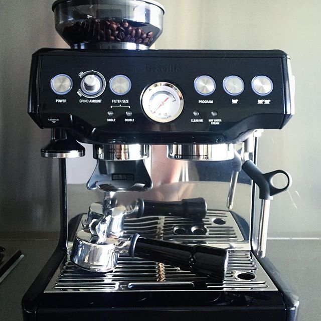Monday Calls For Many With Our Breville Barista Express In Black Sesame Thatsbetta Golocal Shoplocal Brevil Coffee And Books Coffee Love House Styles