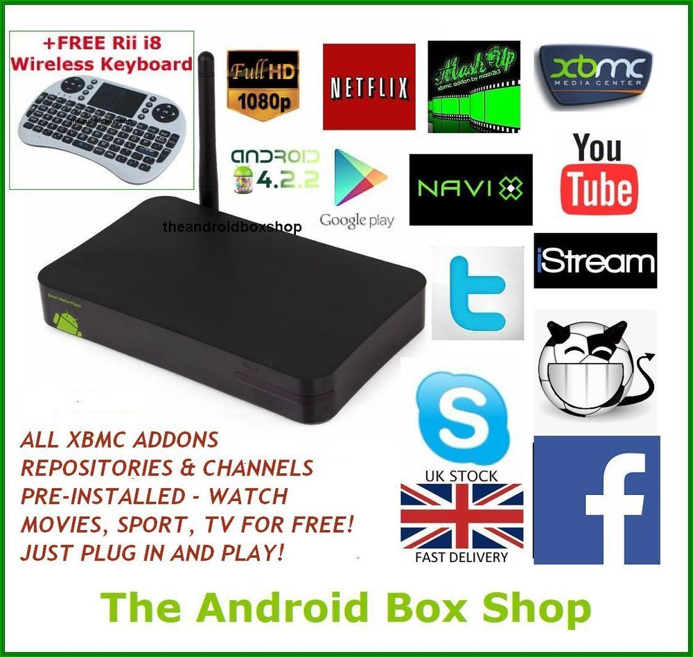 Android TV Box Fully Loaded XBMC Dual Core Free Films