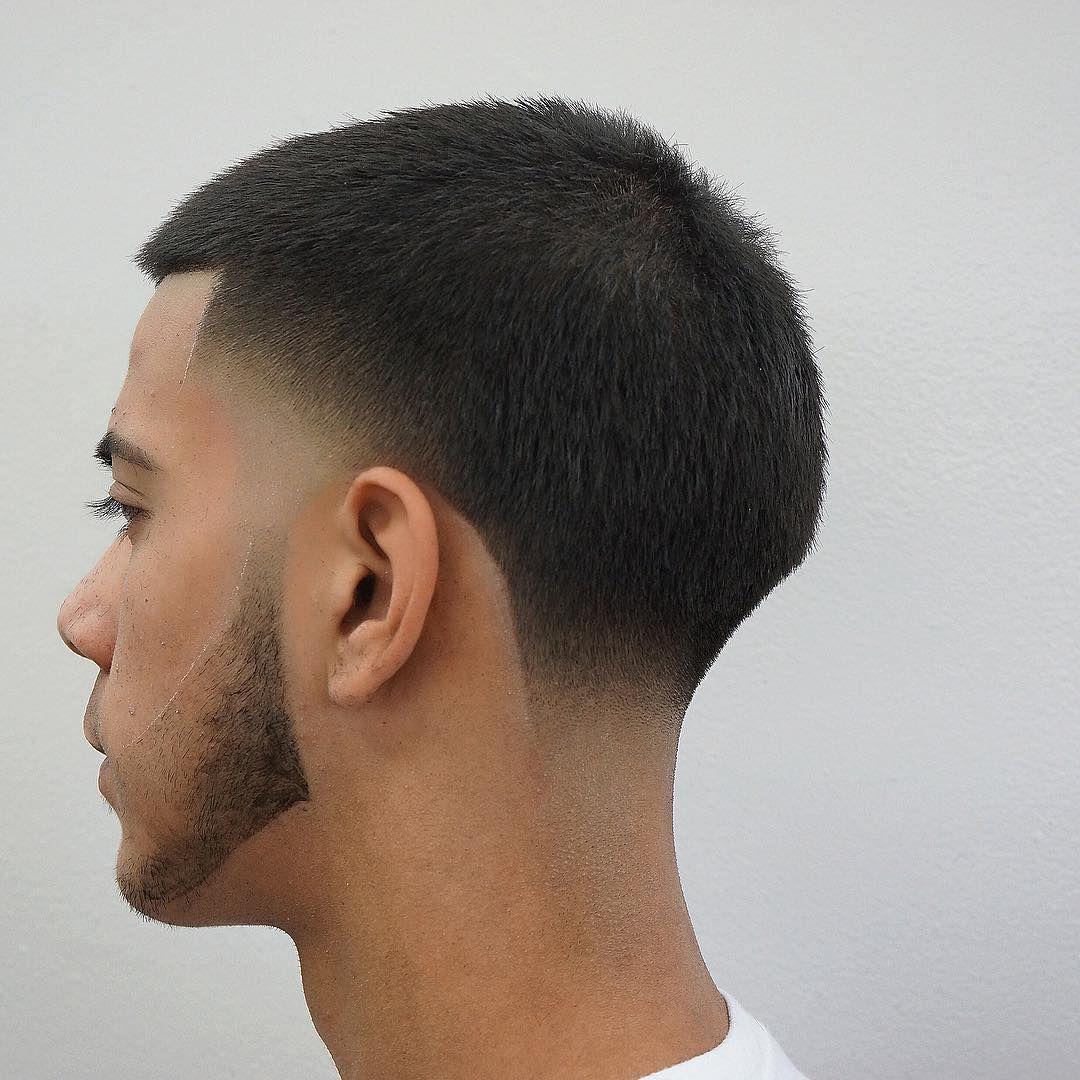 Buzz Cut Short Hair Low Fade Haircut Black Man