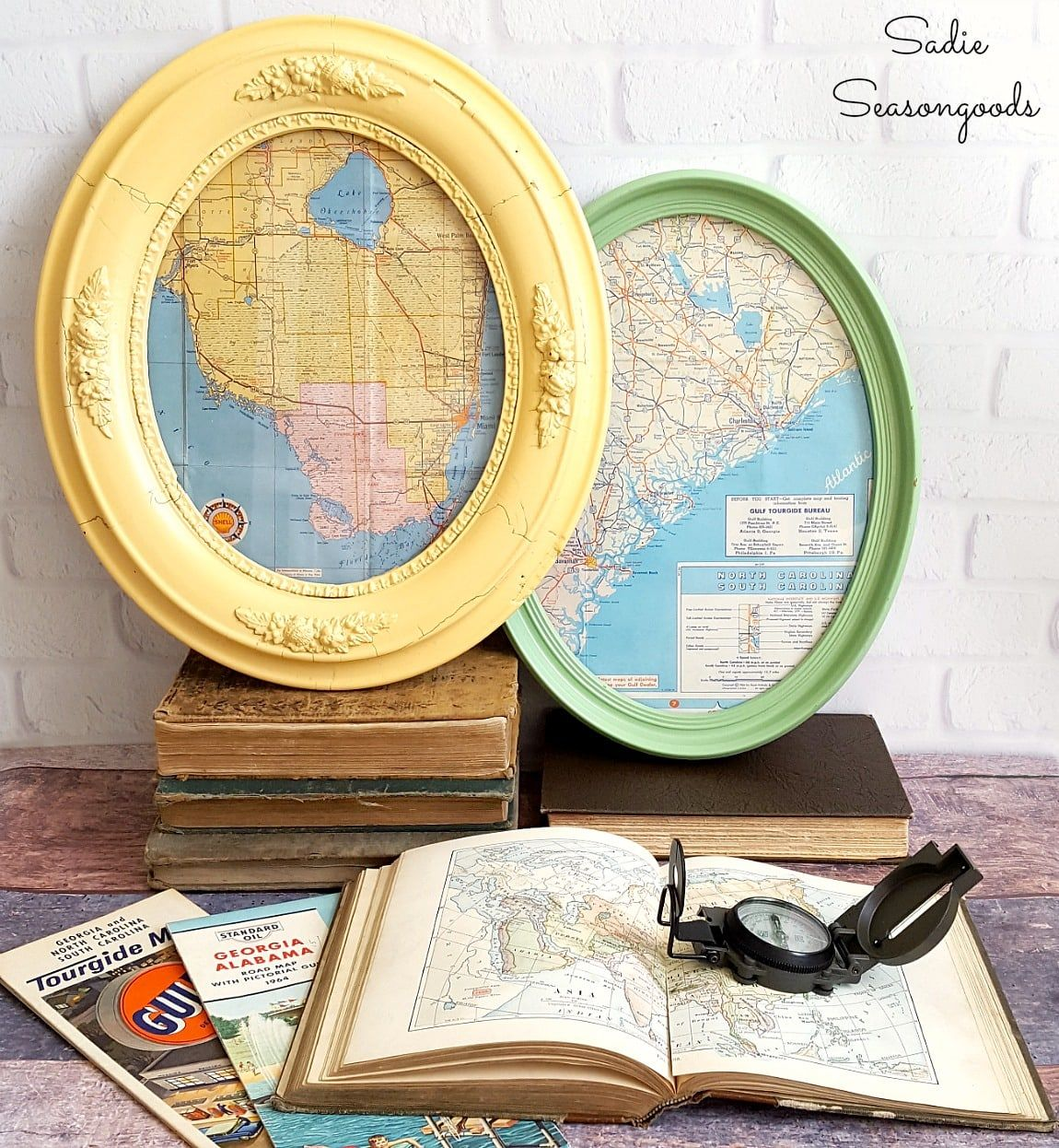 Map Wall Art Framed Wall Art With Oval Picture Frames Antique Maps Diy Picture Frames Oval Picture Frames Diy Wall Art Decor