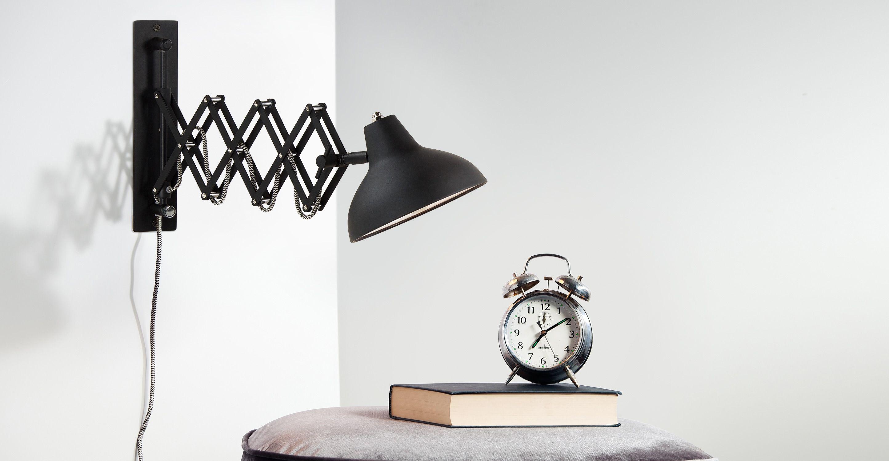 Frosini wandlamp, in zwart   made.com