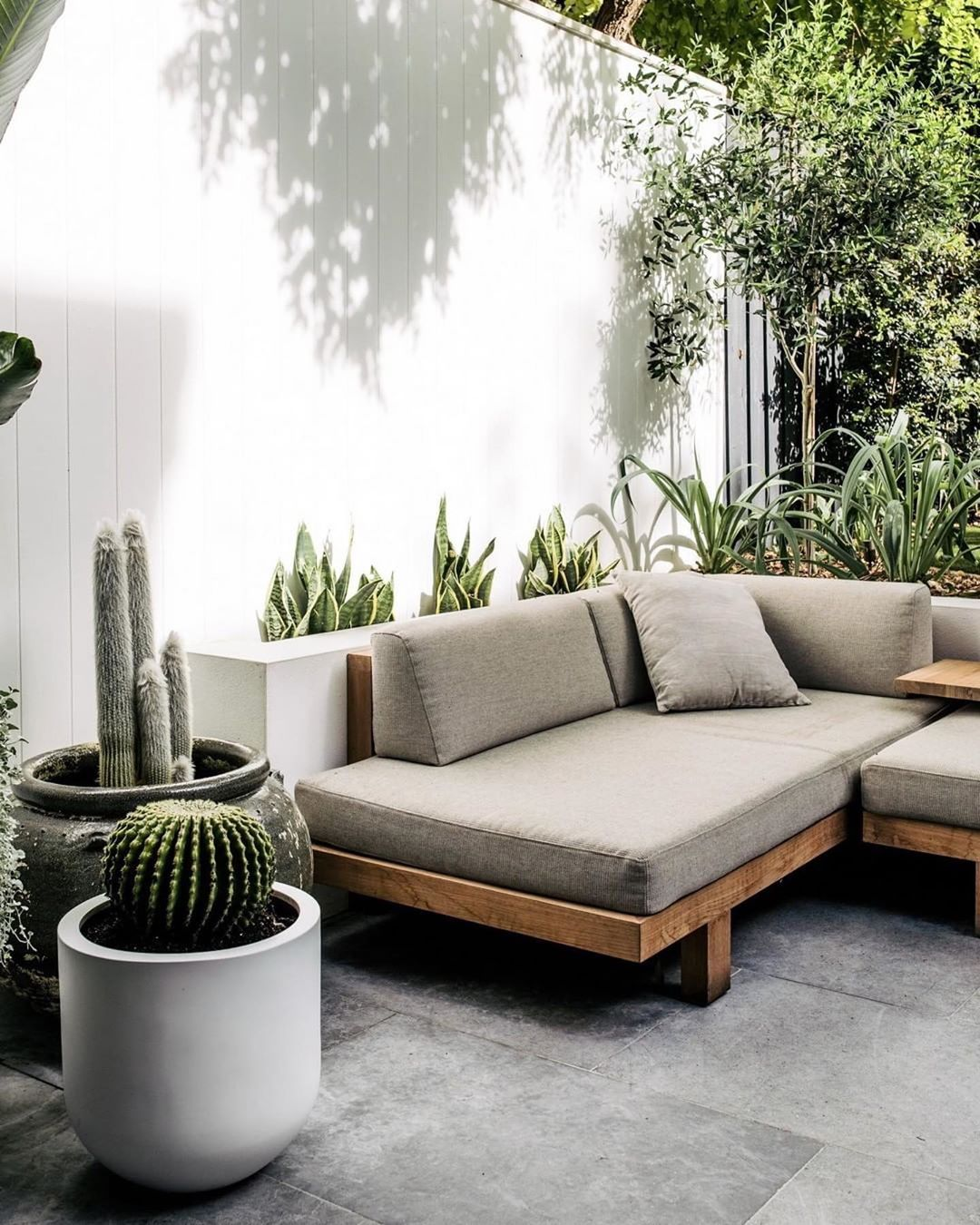 The Tribu Pure Sofa Sitting Nicely In This Contemporary Rustic