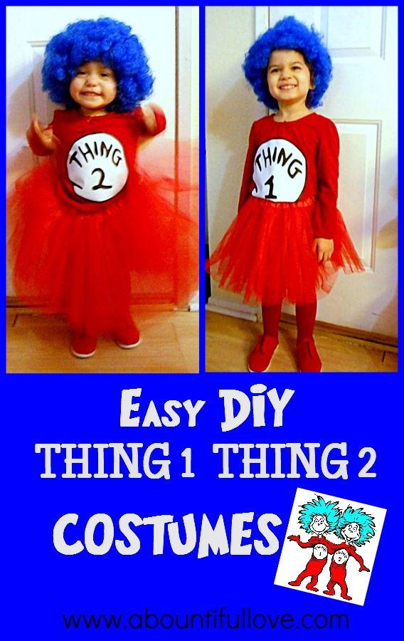A Bountiful Love: DIY Thing 1 and Thing 2 Costumes