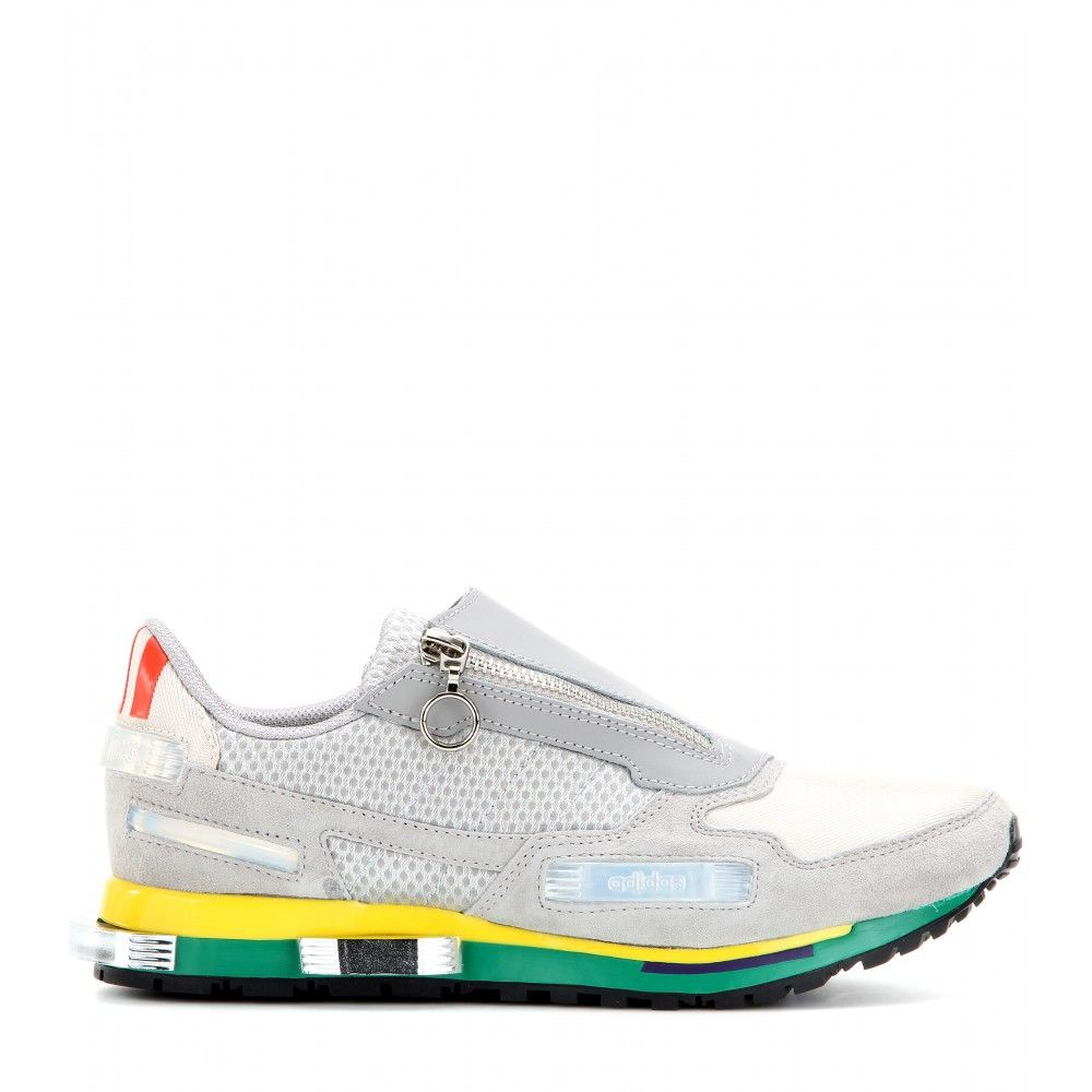 detailed look eadcc 3516c Adidas by Raf Simons - Rising Star 1 leather, suede and mesh ...