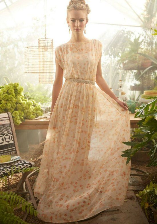floral bohemian style summer mother of bride dress anthropologie