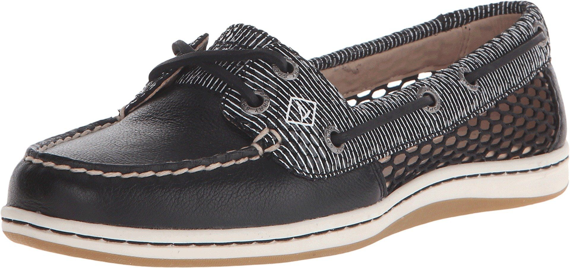 Sperry Women/'s Firefish Stripe Leather Fabric Ankle-High Fashion Sneaker