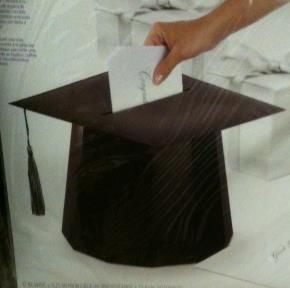 "This is a ""box"" for graduation envelopes. I am going to make this for a class of 2012 party."