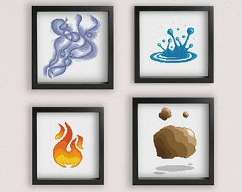 Four Elements Esoteric Mandala cross stitch pattern