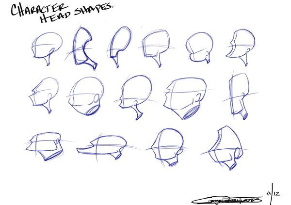 Character Head Shapes Cartoon Drawings Character Design Sketches Cartoon Head