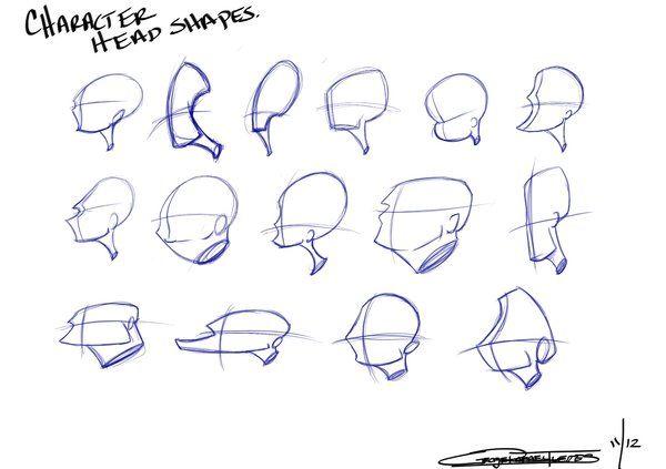 Character Head Shapes Cartoon Drawings Character Design Sketches Cartoon Head