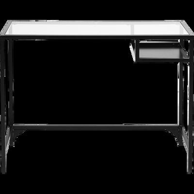 Console En Metal Noir Et Verre L100cm Alinea En 2020 Bureau En