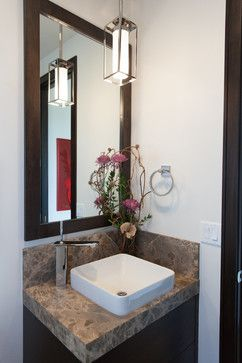 Vessel Sink Powder Room Design Ideas, Pictures, Remodel and Decor