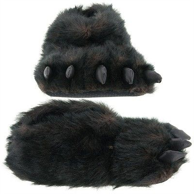 2650e253e400 Animal Slippers – Funny Slippers – Plush Slippers for Kids and Adults Bearpaw  Slippers, Gorilla