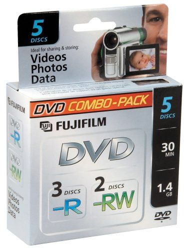 Fujifilm Media 25302434 3 DVD-R/2 DVD-RW 1.4 GB 30 Minute...