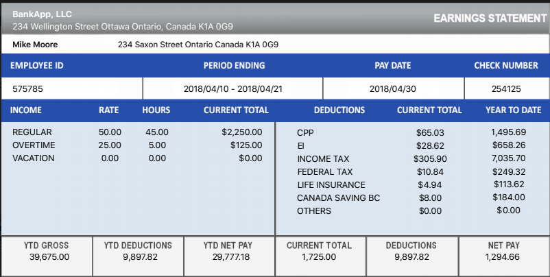 Download Canadian Payslip Paystub Maker For Free Good For Employers And Employees Canada Payroll Checks Calculator