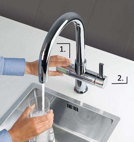 Gekühltes sprudelndes wasser zapfen designtrends in der küche für ihre küche