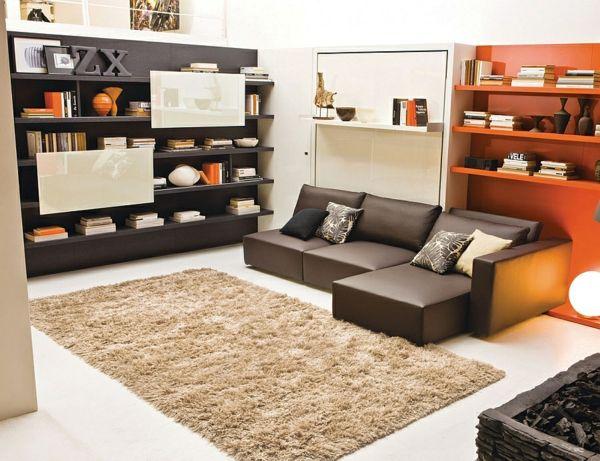 Offenes Regalsystem raumsparendes klappbett smarte sofa systeme klappbett sofa weiß