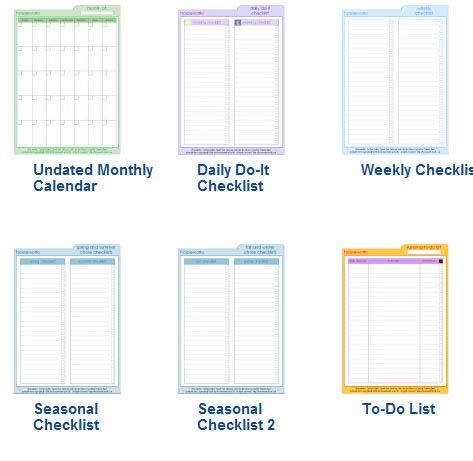 Household planner template? Planner template and Planners - household inventory list template