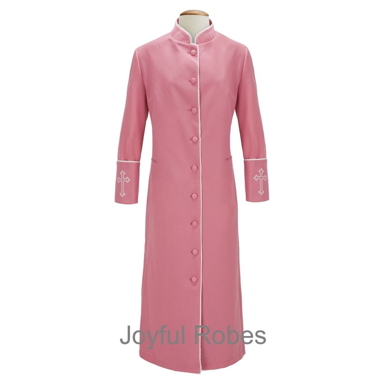 clergy robes for women womens rose pink white clergy robe clergy cassock ladies clergy. Black Bedroom Furniture Sets. Home Design Ideas