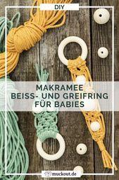 Photo of DIY Geschenk zur Geburt: Baby-Beißring mit Makramee
