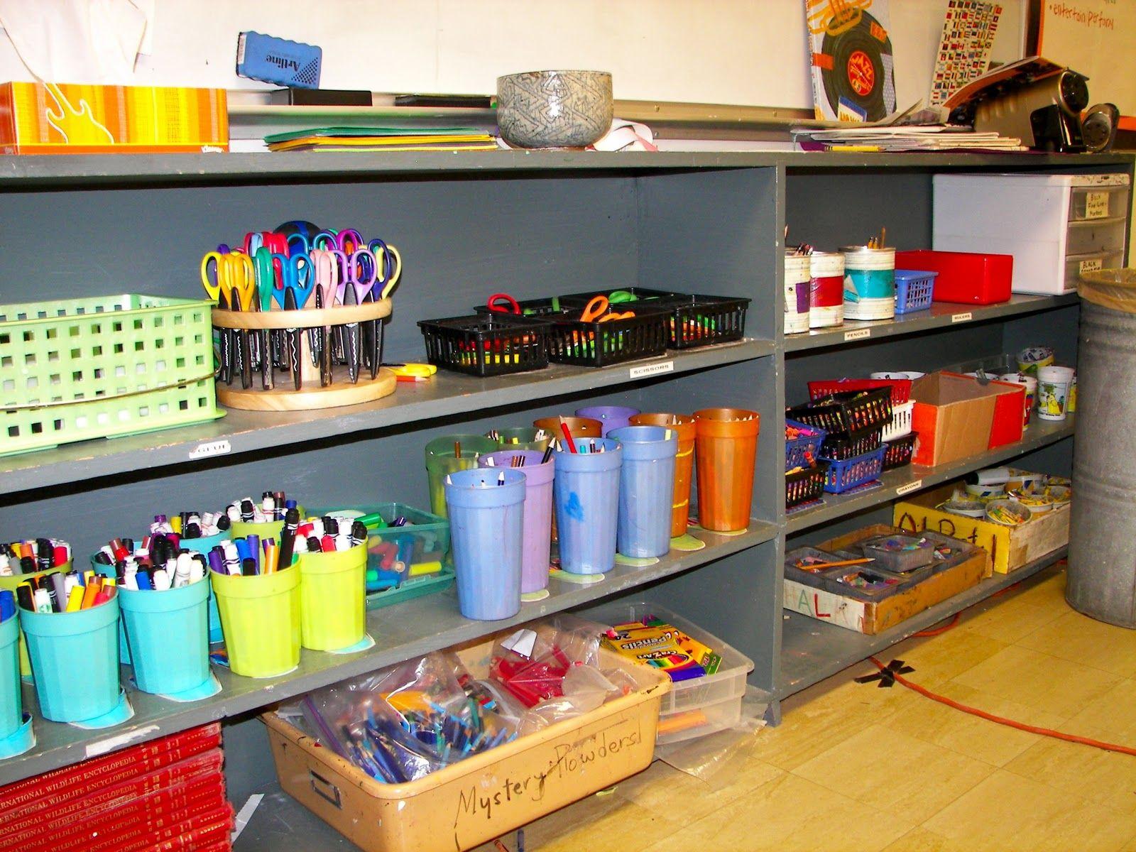 Classroom art centers material center normal supplies