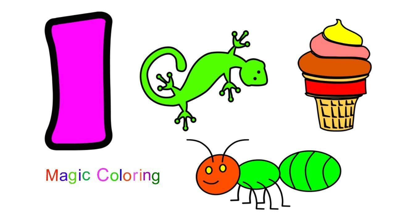Letter I - Kids Learn ABC Alphabet A to Z How to Draw and Coloring ...