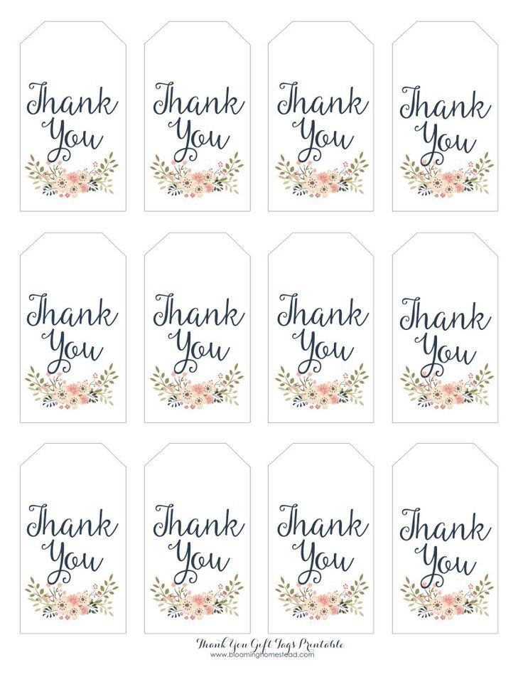 37++ Thank you gift tags printable trends