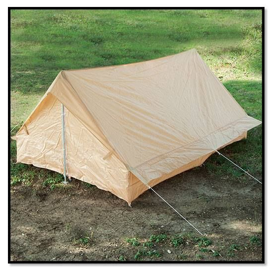 French military surplus fully enclosed pup tent. Lightweight and made for hot steamy tropical environments. Great summer c&ing tent. & French military surplus fully enclosed pup tent. Lightweight and ...