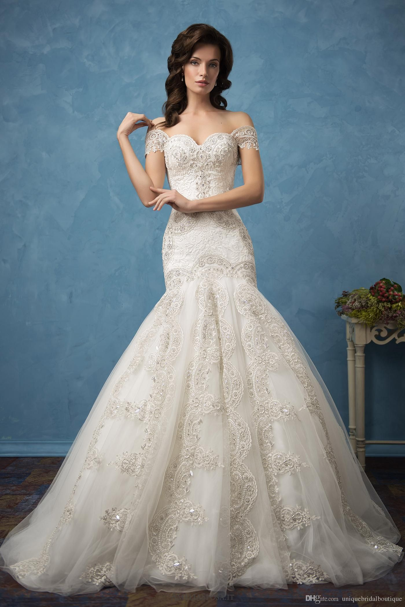 Mermaid Wedding Dresses 2017 Amelia Sposa with Off Shoulder And ...