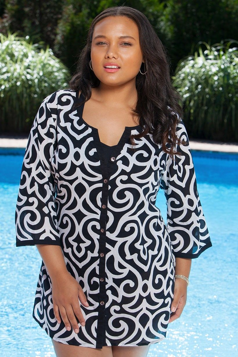 women's plus size cover up dress
