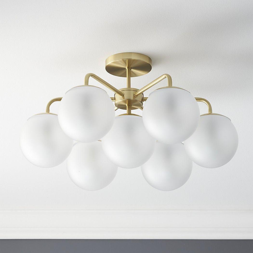 Vega brushed brass flush mount lamp entryway light fixtures