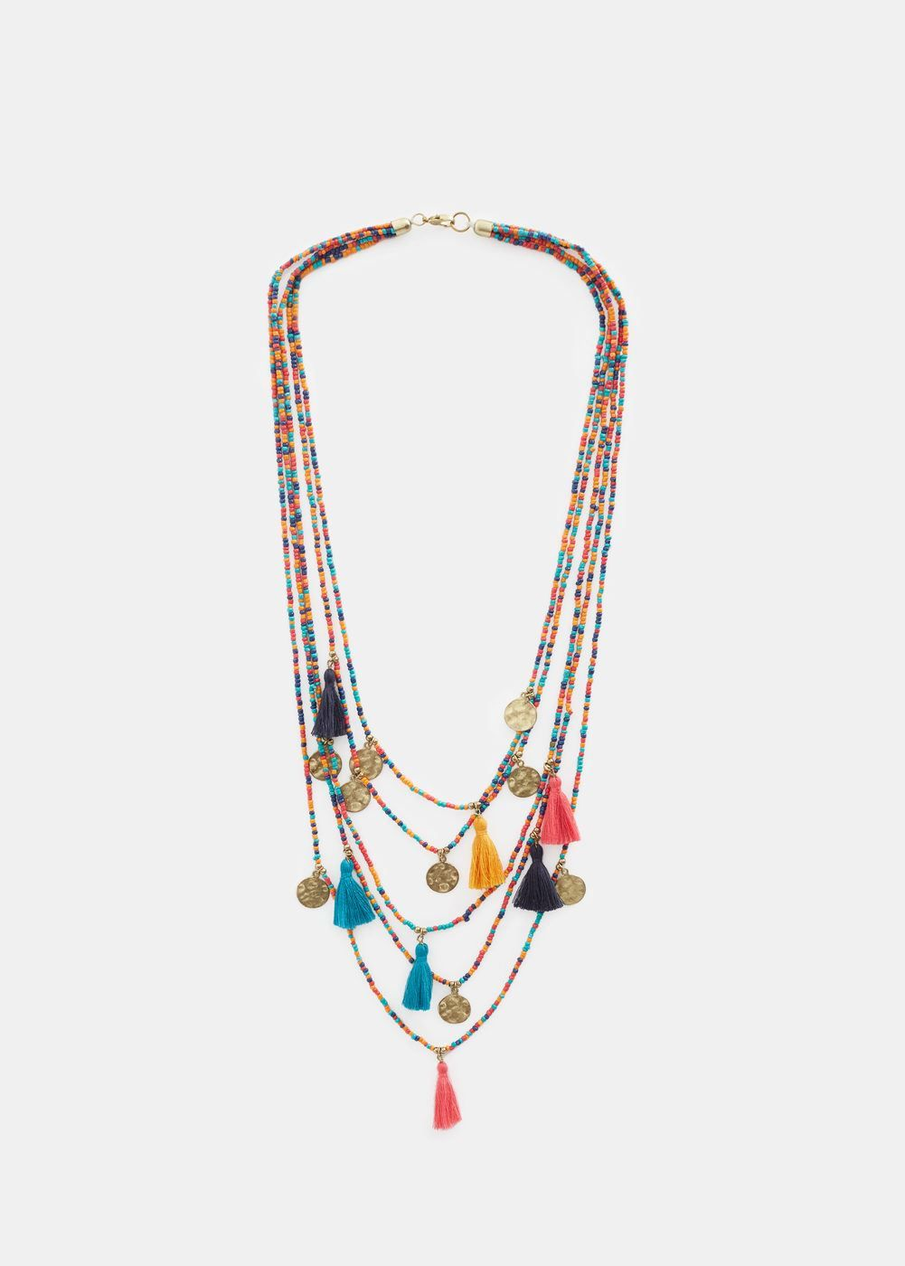Plus Size Waterfall bead necklace