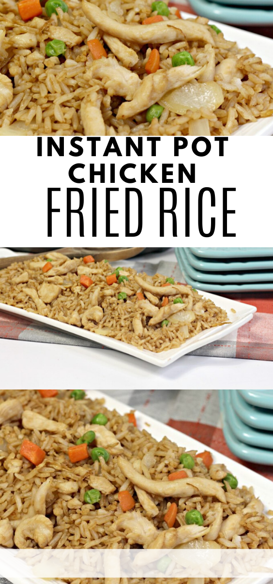 Instant Pot Chicken Fried Rice - Mama's On A Budget        Instant Pot Chicken Fried Rice - Mamas Budget #Budget #Chicken #Fried #Instant #Instant pot recipes #Mamas #Pot #Rice #on a budget