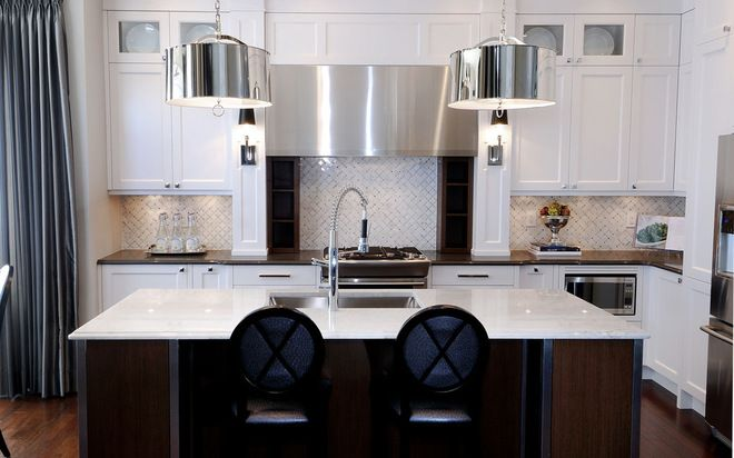 Glam Contemporary Kitchen by Atmosphere Interior Design Inc House