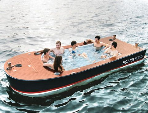 Has anyone of you ever envisioned, dreamed or even perhaps seen anything similar to this? Hot tub boats! Do you also happen to regard this as a pretty cool idea and invention? It certainly doesn't go unnoticed and am personally intrigued to how the experience is going to be. Soaking up in steamy 104 degrees …