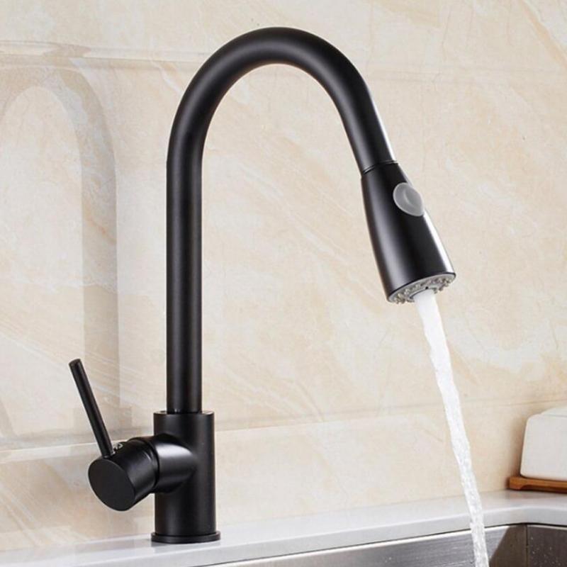 Best High End Pull Down Kitchen Faucet Bar Tap Sink Sprayer Mixer