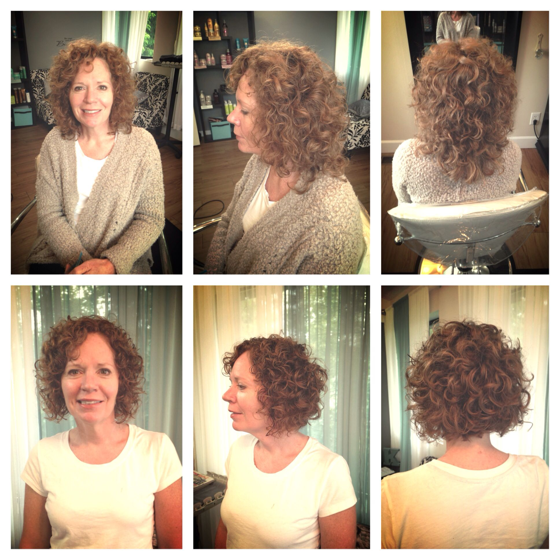 Naturally curly inverted bob, Before & Afrer By Karly Price ...
