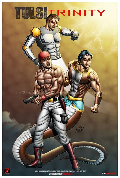 Tulsi Trinity' #tulsi #comics #angara #jamboo #tausi #dkboss7 | some