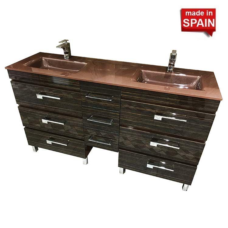 60 Inch YANE Deluxe Euro line Bathroom Vanity Bellizza Made in Spain