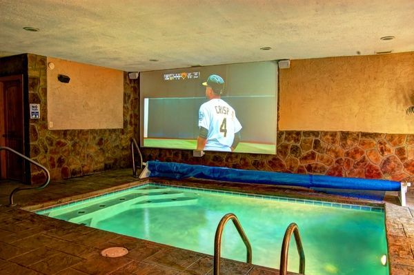 Enjoy Your Own Private Indoor Pool Theater At Skinny Dippin Pool Cabin Near  Gatlinburg